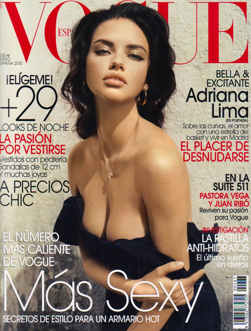 Vogue Spain-Adriana Lima by Vincent Peters