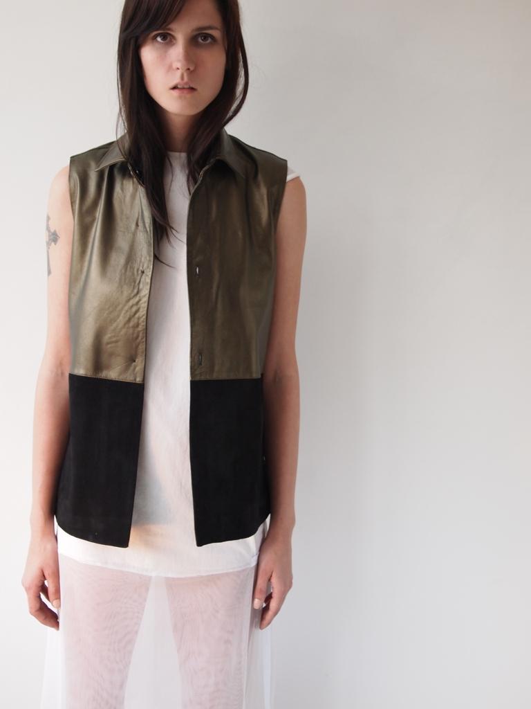 SHIRTY SKIN + DOUBLE LAYER FOLD DRESS
